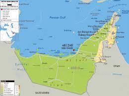 uae map map showing abu dhabi and dubai lapiccolaitalia info