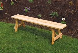 red cedar traditional backless bench from dutchcrafters