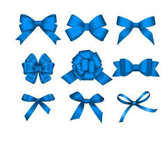 blue bows blue ribbon bows vector material 01 vector ribbon free
