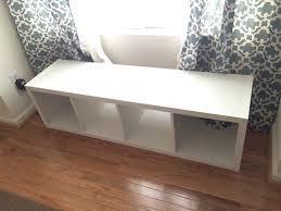 Window Seat Storage Bench Diy by The Adorable Mess Diy Ikea Kallax Storage Bench