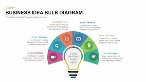 Fishbone Diagram Template Ppt by Business Idea Bulb Diagram Powerpoint And Keynote Template
