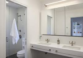 bathroom cabinets borderless mirror contemporary bathroom
