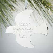 engraved dove ornament memorial