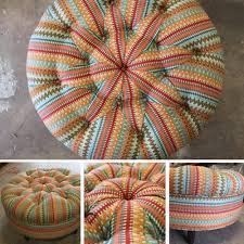 Custom Fabric Ottoman by U Fab U0027s Custom Upholstery Service