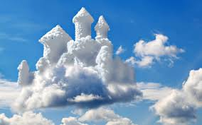 princess castle in the clouds hd wallpaper wallpaper download