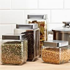 stainless kitchen canisters kitchen accessories stainless steel lids glass decorative kitchen