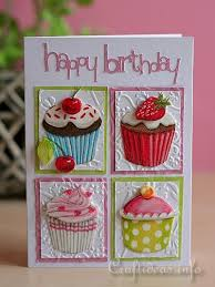 craft ideas and card crafts collage card in pink