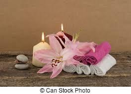 composizione di candele bello rosa concetto zen candele s delicato terme foto