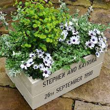 personalised wooden crate planter by plantabox