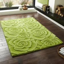 Modern Floral Rug Green Vl 10 Tufted Modern Floral Rug