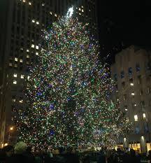 the rockefeller center christmas tree lighting new york ny