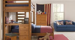Wooden Bunk Bed With Desk Fabulous Childrens Bunk Beds With Desk Varnished Wooden Loft Bunk