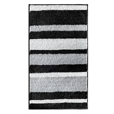 Black Bathroom Rug Interdesign Stripz 34 In X 21 In Bath Rug In Black Gray 18912