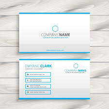 Minimal Business Card Designs Simple Business Card Template Vector Free Download