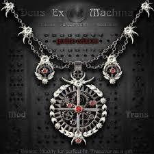 gothic steampunk necklace images Second life marketplace quot deus ex machina quot victorian steampunk jpg