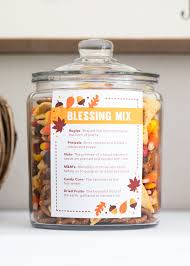 thanksgiving blessing mix free printable a sweet and salty