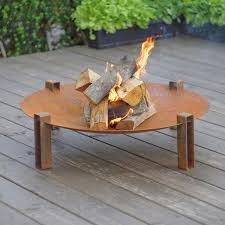 Wood Firepits Alna Solid Carbon Steel Wood Burning Pit Wood Burning