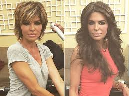how does lisa rinna fix her hair lisa rinna gets hair extensions see her bold look people com