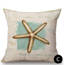 themed sayings conch nautical pillows with sayings for starfish shell