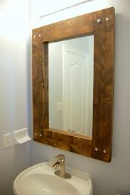 Wood Frames For Bathroom Mirrors How To Build And Decorate With Rustic Mirror Frames
