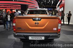 nissan np300 navara nissan navara np300 rear at iaa 2015 indian autos blog