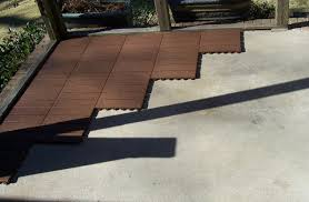 Outside Tile For Patio Quick Easy Outdoor Or Indoor Flooring For All Hard Home Goods