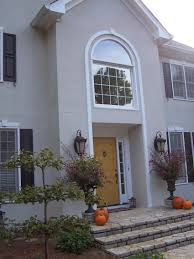 decorating impressive dark blue house entrance door with silver