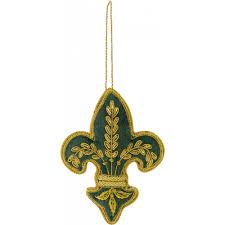 zardozi fleur de lis ornament green mardigrasoutlet