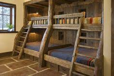 Thats A Bunk Bed Rustic But Awesome Stuff To Build - Log bunk beds