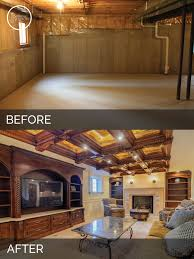 simple basement renovations before and after interior design for