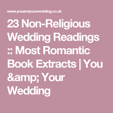 wedding quotes non religious 23 non religious wedding readings most book extracts