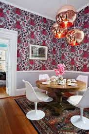 Katie Ridder Katie Ridder Wallpaper Bathroom Traditional With Pink Mirrored