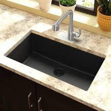 Black Kitchen Sinks Youll Love Wayfair - Black granite kitchen sinks