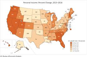 Average Rent By State Bea News Release State Personal Income 2016