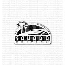 jeep wrangler sahara logo jeep wrangler sahara edition old emblem sticker automotive