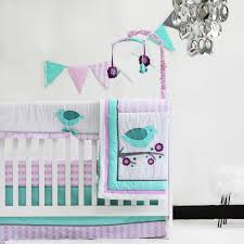 Crib Bedding Sets by Pam Grace Creations Lovebird 10 Piece Crib Bedding Set Lavendar