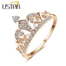 crown rings images Ustar princess crown rings for women aaa cubic zirconia micro pave jpg