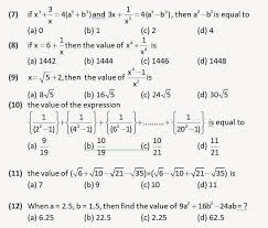 algebra practice questions for ssc cgl prepartions