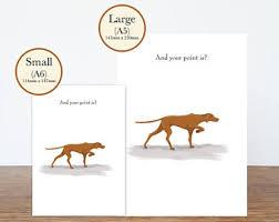 vizsla dog card etsy