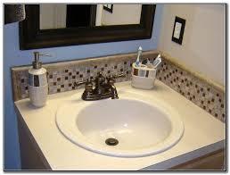 Backsplash Around Bathroom Sink Sink And Faucets  Home - Bathroom sink backsplash