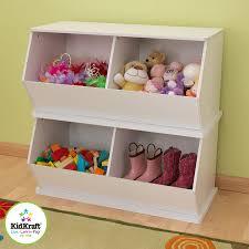 amazon com kidkraft double storage unit white toys u0026 games
