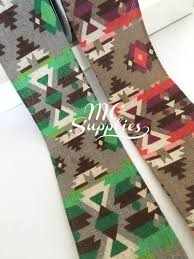 aztec ribbon fabric ribbon aztec ribbon wide ribbon embellished ribbon sewing
