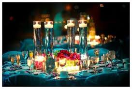 Candle Centerpiece Wedding Floating Candles Centerpiece Wedding Reception Blue Cand