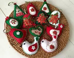felt christmas felt christmas ornaments etsy