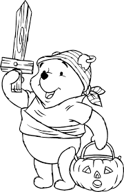 halloween pooh pirate costume coloring pages kids free