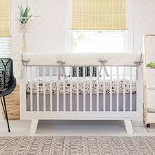 White Nursery Bedding Sets Black And White Crib Bedding Woodland Baby Bedding Black Crib