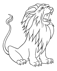 coloring pages draw a lion for kids learn language me