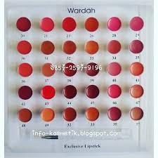 Lipstik Wardah wardah tester lipstik exclusive kosmetik wardah