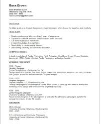 Sample Graphic Design Resume by Creative Arts And Graphic Design Resume Examples