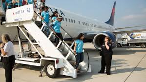 black friday delta airlines delta operates all female flight for girls in aviation day